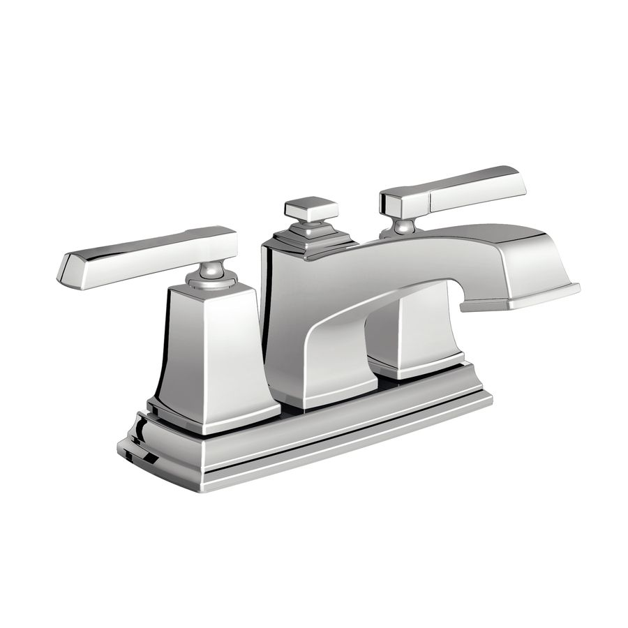 4 inch center bathroom faucet. 2nd Bath Shop Moen Boardwalk Chrome 2 Handle 4 In Centerset WaterSense Bathroom  Faucet