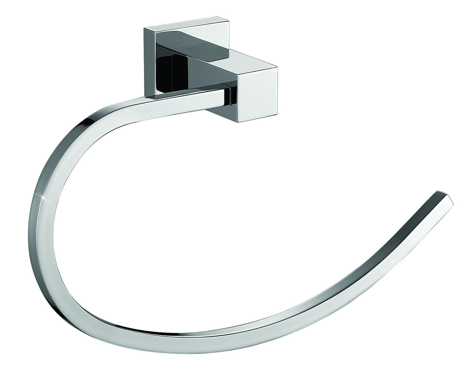 Me Cubo Brass Towel Ring Holder Towel Hanger Open Arm Polished Chrome Towel Hanger Towel Hangers For Bathroom Polished Chrome