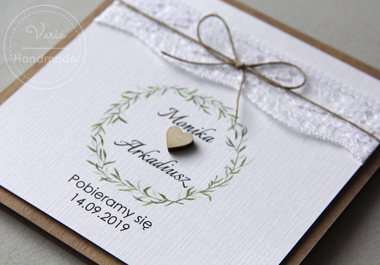 Rustykalne Zaproszenia Slubne Z Wiencem Flower Box Gift Wedding Planning Wedding