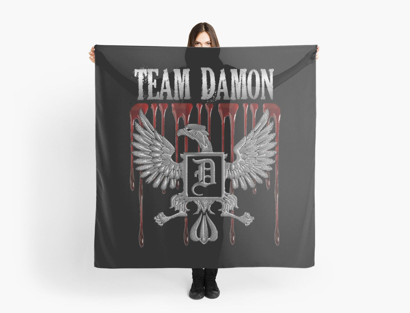 Team Damon Blood Crest | Inspired by the Vampire Diaries