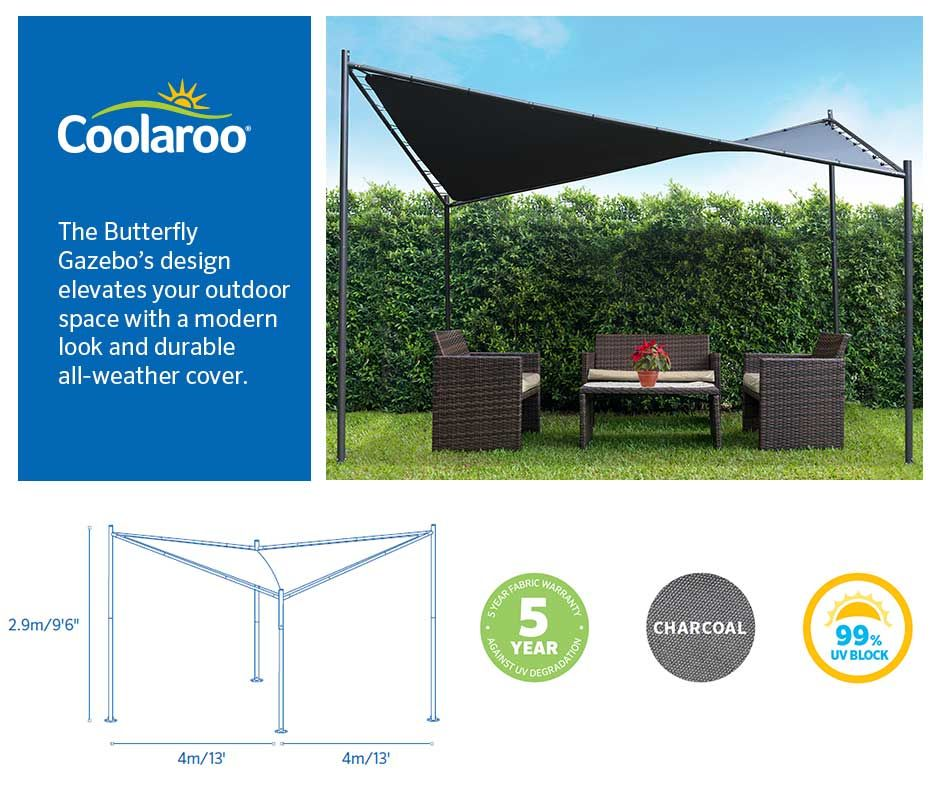 Coolaroos Butterfly Gazebos Design Elevates Your Outdoor