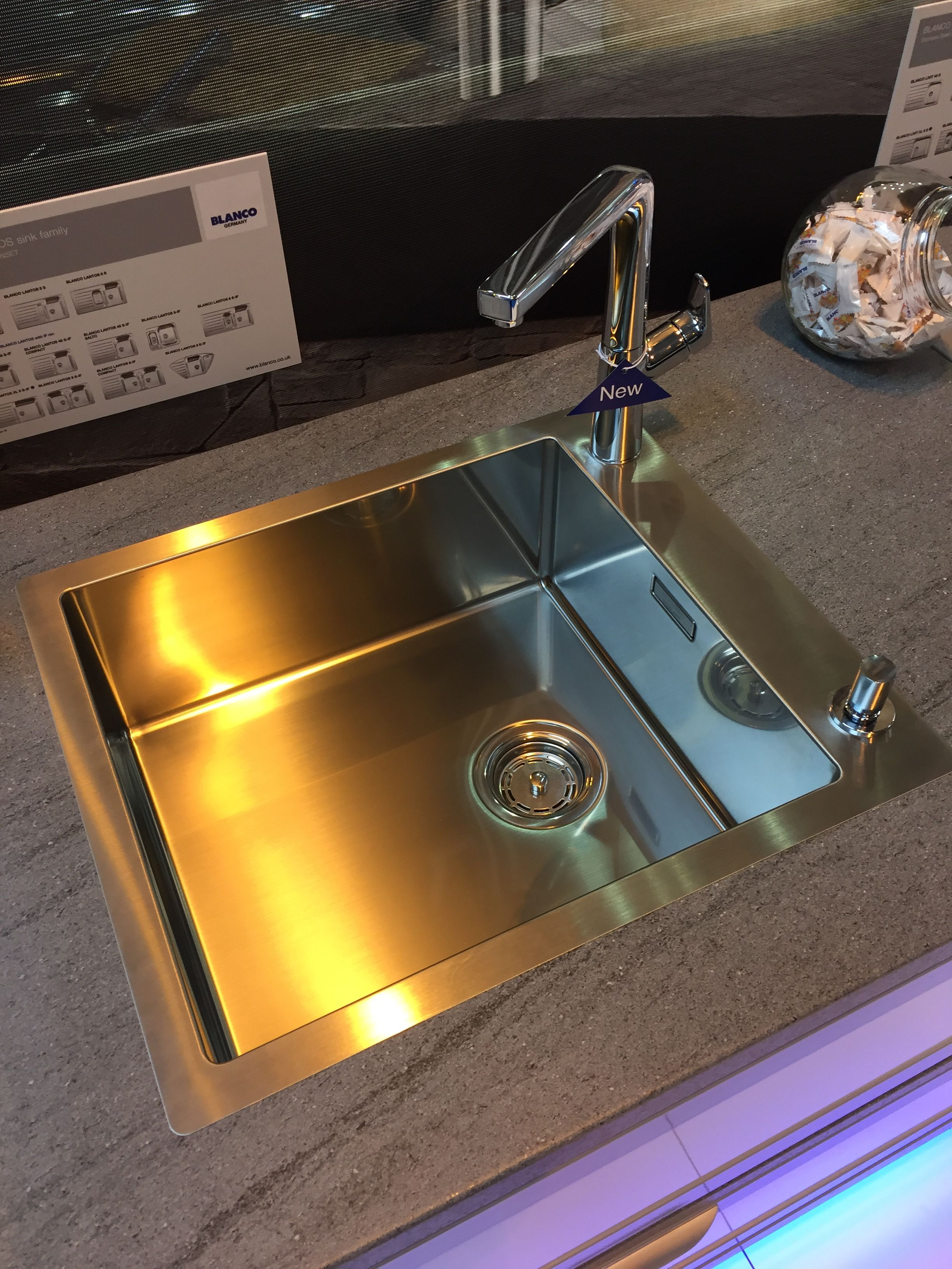 Blanco new sink with side tap position giving way for a large bowl ...