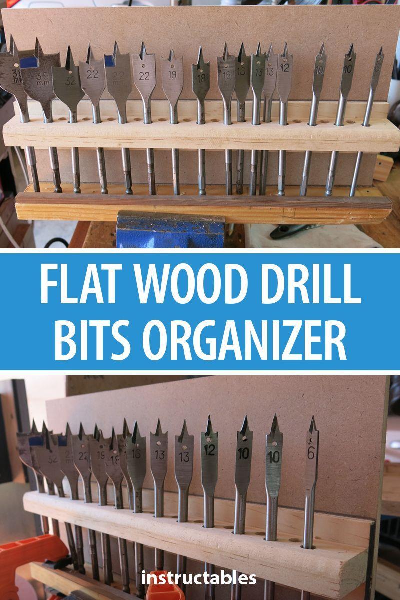 Flat Wood Drill Bits Organizer Wood Drill Bits Used Woodworking Tools Drill Bits