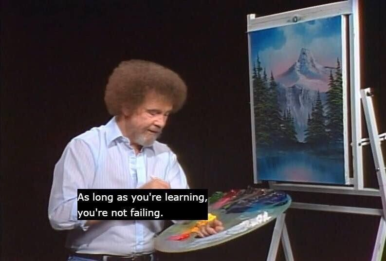 Pepsfeeder Bob Ross Quotes Positive Memes Bob Ross