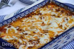 Divine Casserole #sourcreamnoodlebake Divine Casserole, sometimes called simply Sour Cream Noodle Bake, is sort of a cross between baked spaghetti and lasagna in its flavor. Made with egg noodles tossed with a mixture of cream cheese, sour cream and cottage cheese, layered with a tomato-based meat sauce and shredded cheese, it might just become a family favorite! #sourcreamnoodlebake