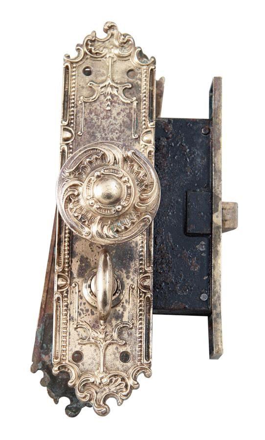 Antique Interior Ornate Mortise Lock Set By Corbin Antique
