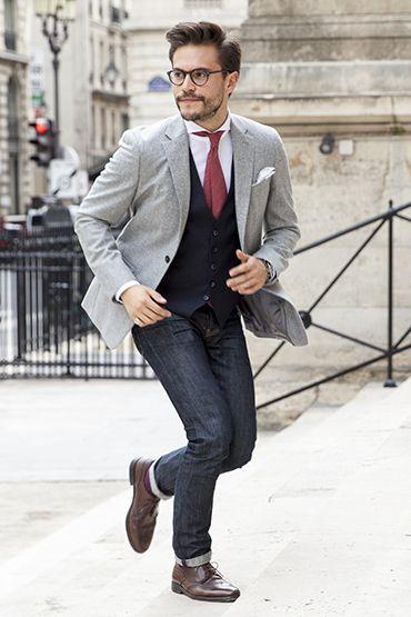 Que mettre avec une veste grise homme