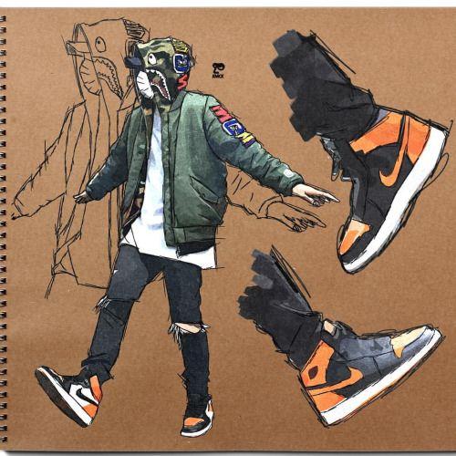http://SneakersCartel.com Bape x Air Jordan Dope sketch by designer @