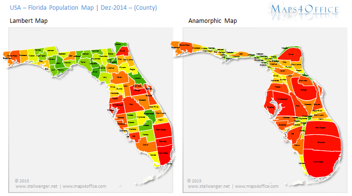 florida map of population density