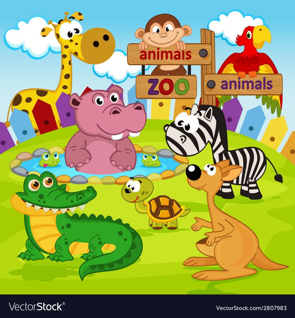 Zoo Animals Vector Illustration Eps Download A Free Preview Or High Quality Adobe Illustrator Ai Eps Pdf And High Resolu Zoo Animals Animal Wallpaper Zoo