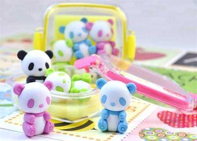 Lemon Animal Eraser Set Party Bag Gift! Novelty Japanese Eraser Rubber