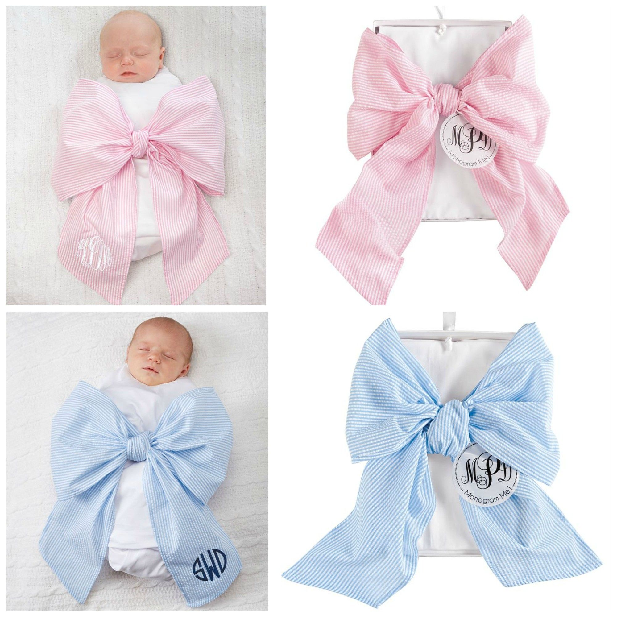 How To Swaddle A Baby With A Blanket Inspiration Bow Swaddle Baby Blanket In Pink Or Blue#mudpie Design Inspiration