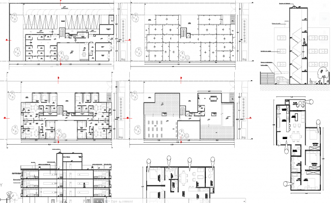 Apartment Floor Plans Dwg 2 and 3 bhk apartment architecture design in autocad dwg files
