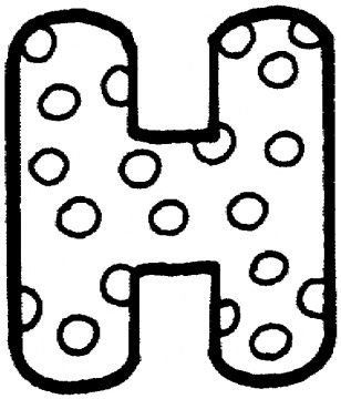 letter h with polka dot coloring page from english alphabet with polka dot pattern category