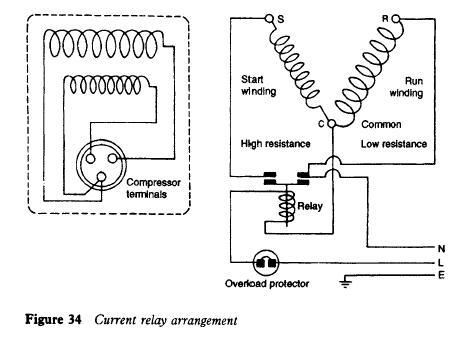 Refrigerator Current Relay Arrangement Refrigerator Compressor Compressor Electrical Circuit Diagram