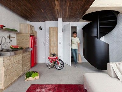 Best Playful Wall Of Storage Enlarges This 380 Sq Ft 400 x 300