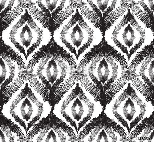 """Download the royalty-free photo """"Abstact seamless pattern  Floral oriental geometric ornament """" created by Terriana at the lowest price on Fotolia.com. Browse our cheap image bank online to find the perfect stock photo for your marketing projects!"""