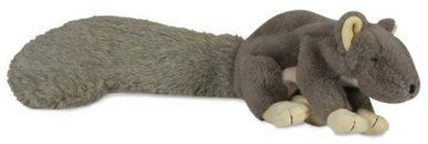 HuggleHounds Plush Soft Super Durable Squeaky Lil Feller Squirrel Pet Dog Toy