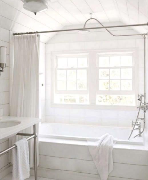 Love the big bath with rain shower head and other shower ...