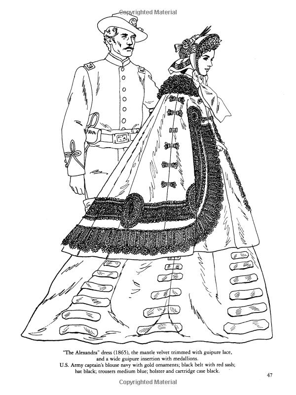 Civil War Fashions Coloring Book (Dover Fashion Coloring Book ...