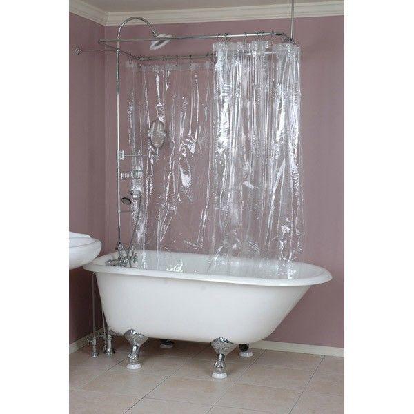 180 X 70 Shower Curtain Clawfoot Tub Shower Shower Tub Fabric