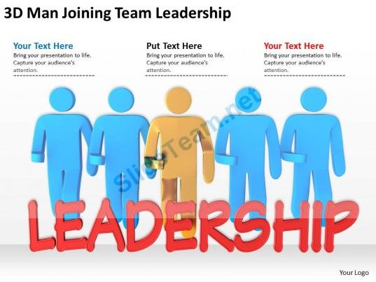 3d man joining team leadership ppt graphics icons powerpoint, Modern powerpoint