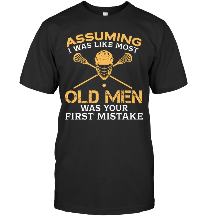 Funny Old Men Who Loves Lacrosse T Shirt #oldtshirtsandsuch