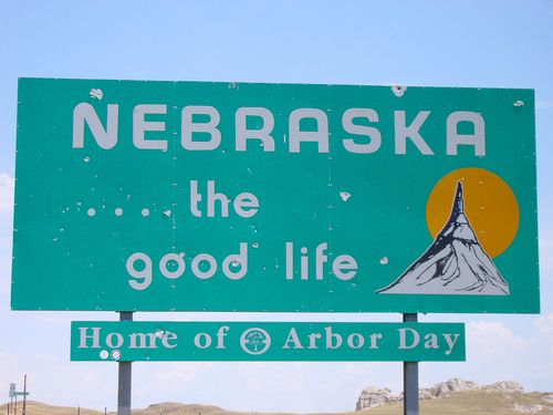 Nebraska The Good Life Nebraska State Signs Welcome Sign