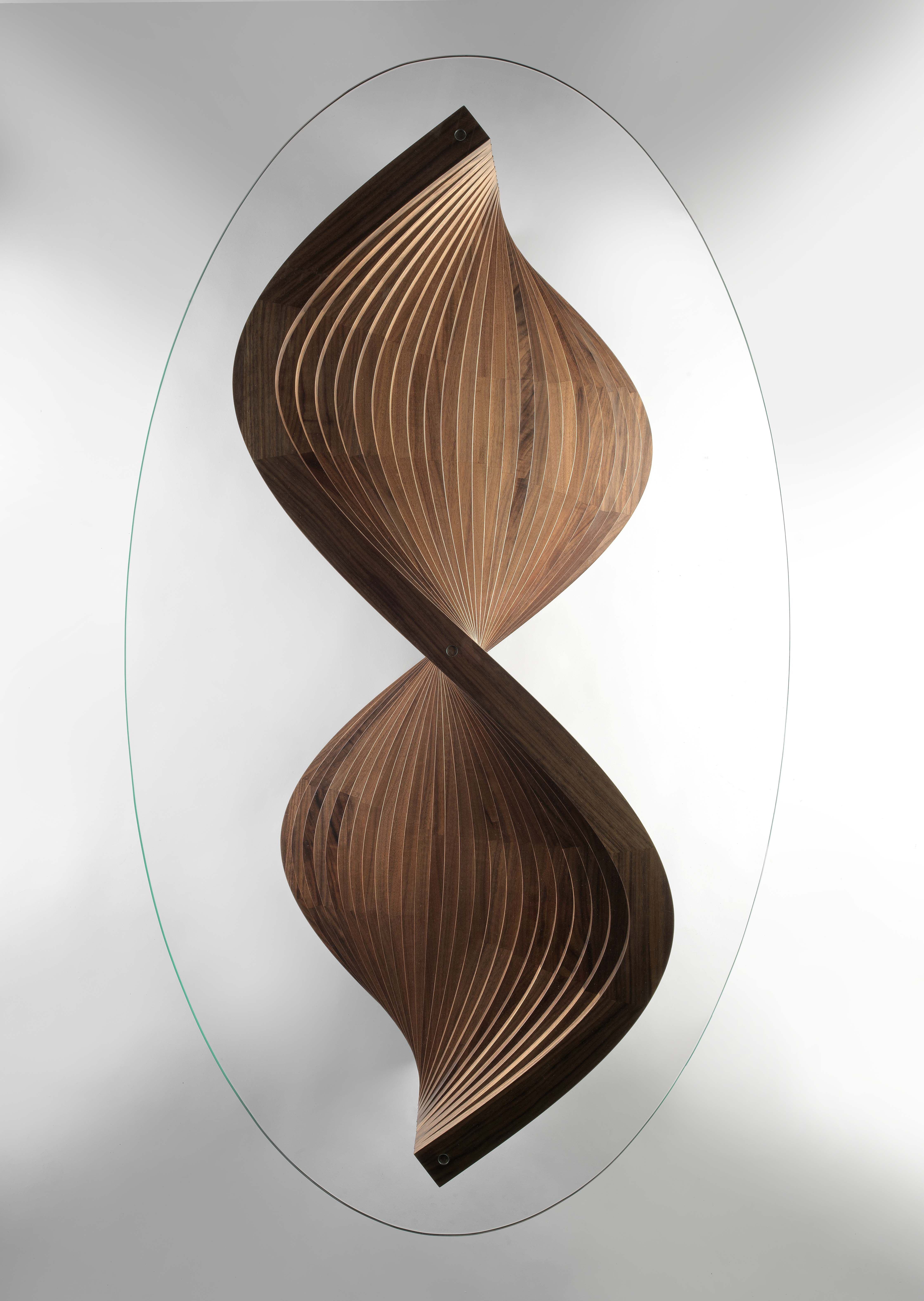 Sidewinder sculptural coffee table top view by David ...