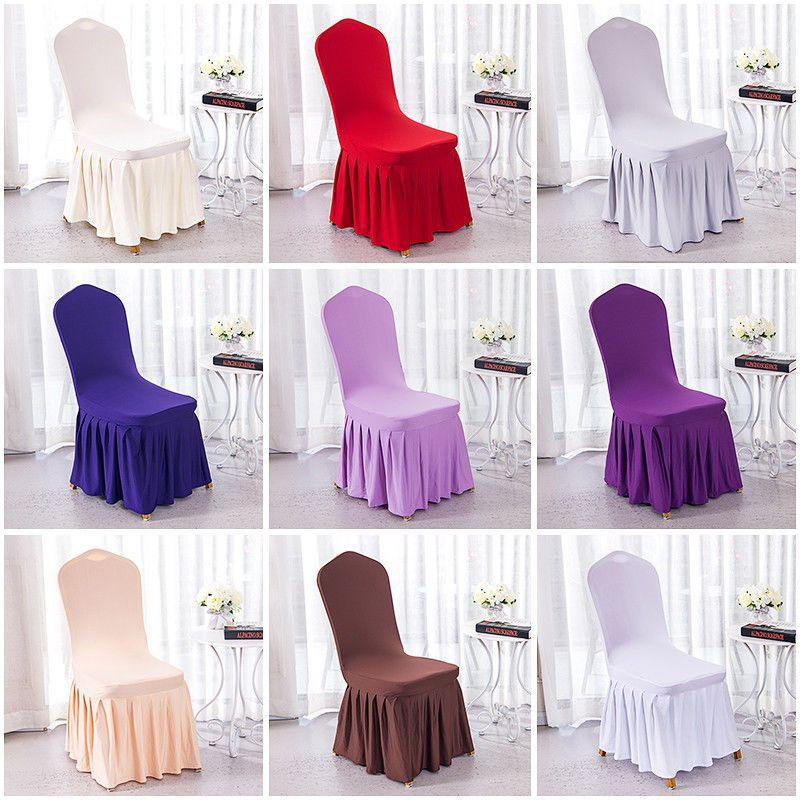 Chair Covers Seat Slip Cover Stretch Dining Room Banquet Wedding Party Arched