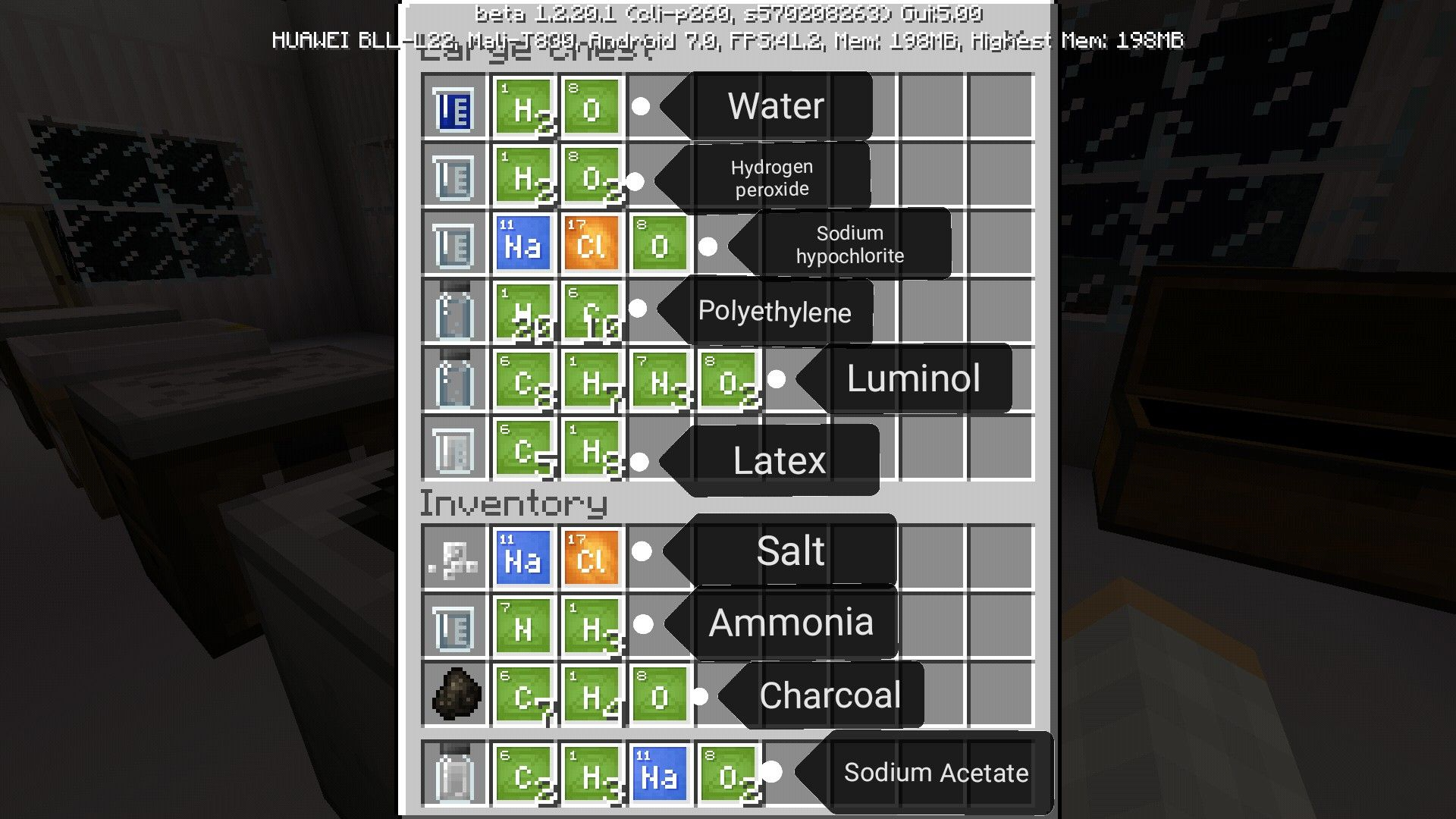 Minecraft Education Edition Chemistry Minecraft Crafting Recipes Minecraft Projects Minecraft Crafts