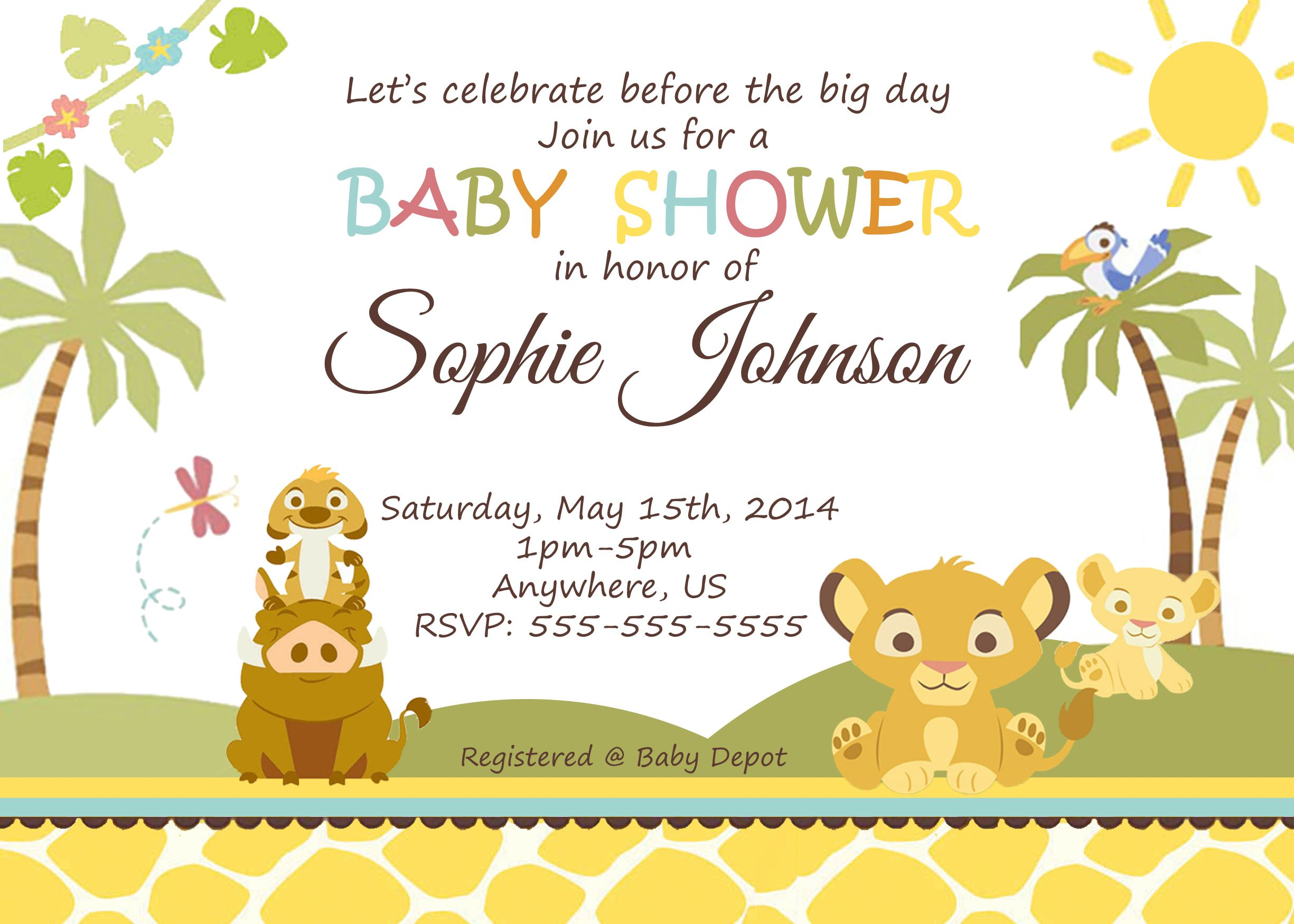 Simba Lion King Baby Shower Invitation $8.99 available at www ...
