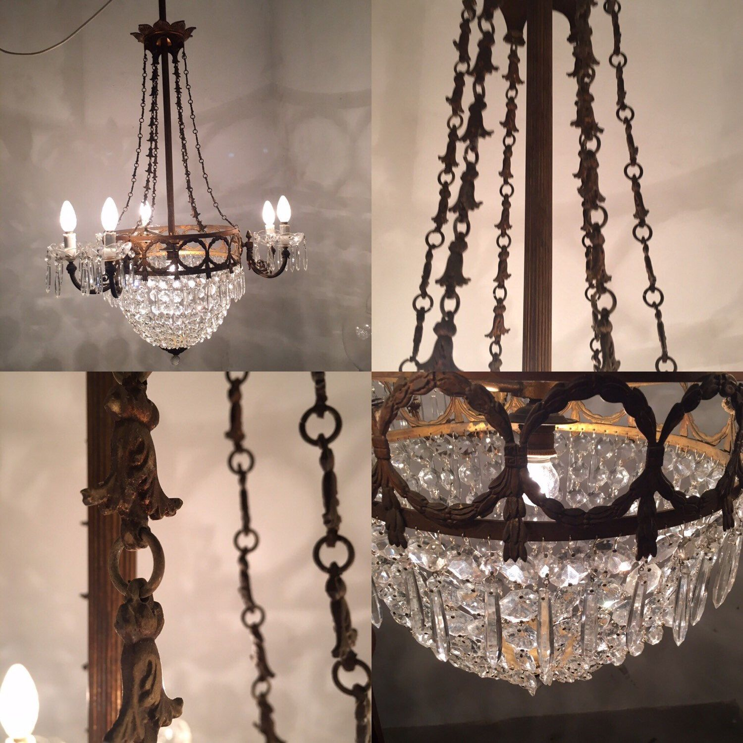 Check out our luxury vintage Chandeliers ✅✅➡ ➡ Sale now on