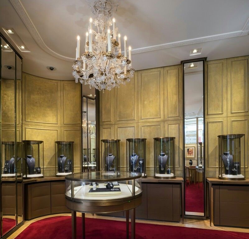 Lighting Stores In Paris: Newly Reopened CARTIER Flagship Store In Paris On Champs