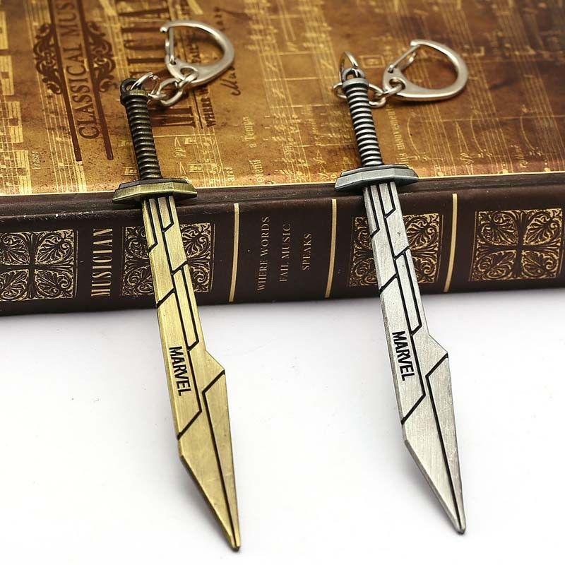 Thor Ragnarok Keychain Avengers Sword Weapon Model Keyrings Key Holder for Men