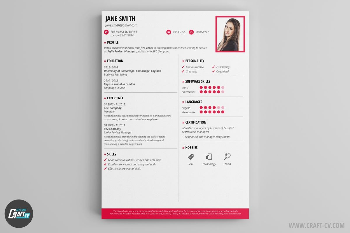 Pin by CraftCv - CV/ Resume Builder on Creative CV Templates - CV ...