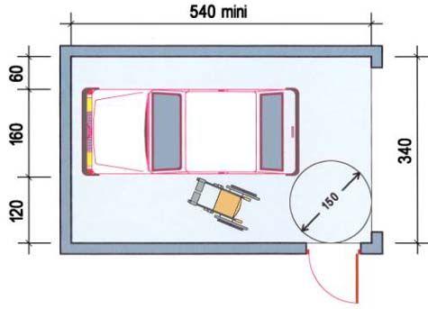 Box de stationnement réservé avec second accès échelle humaine - plan maison avec tour carree
