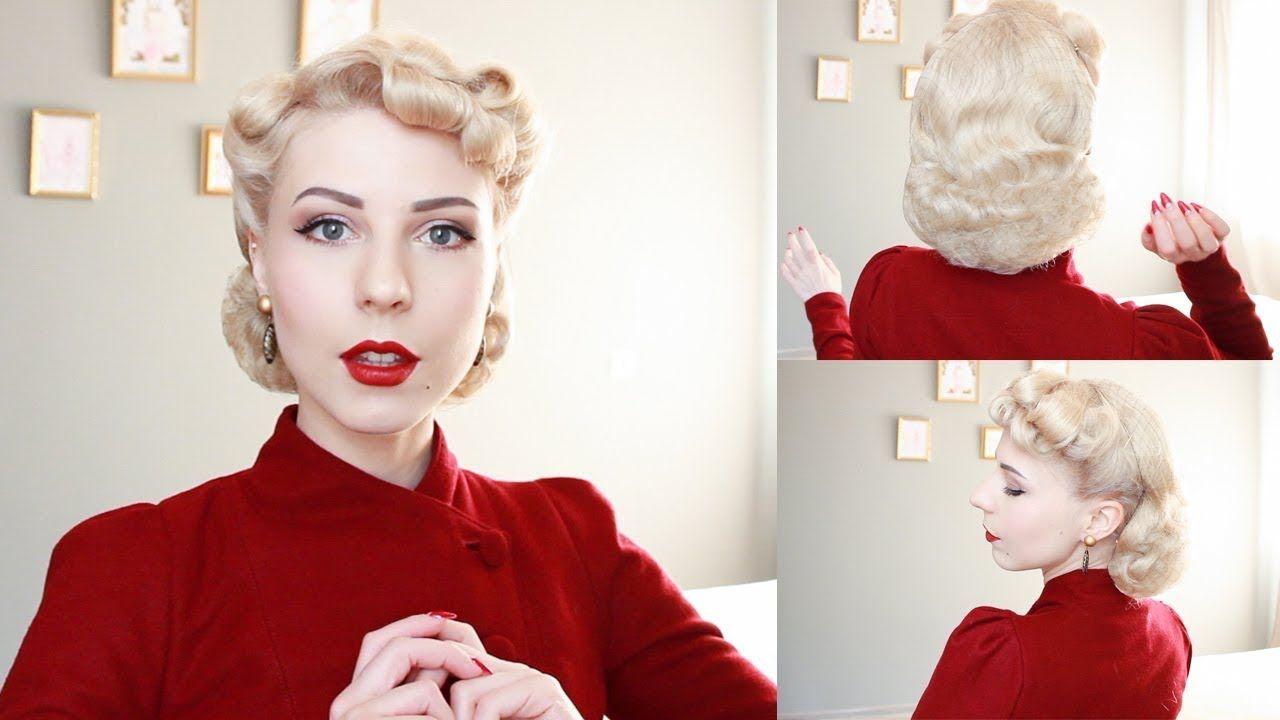 Vintage 1940 S Hair Tutorial With Hair Net Or Snood Youtube 1940s Hairstyles Hair Styles 40s Hairstyles