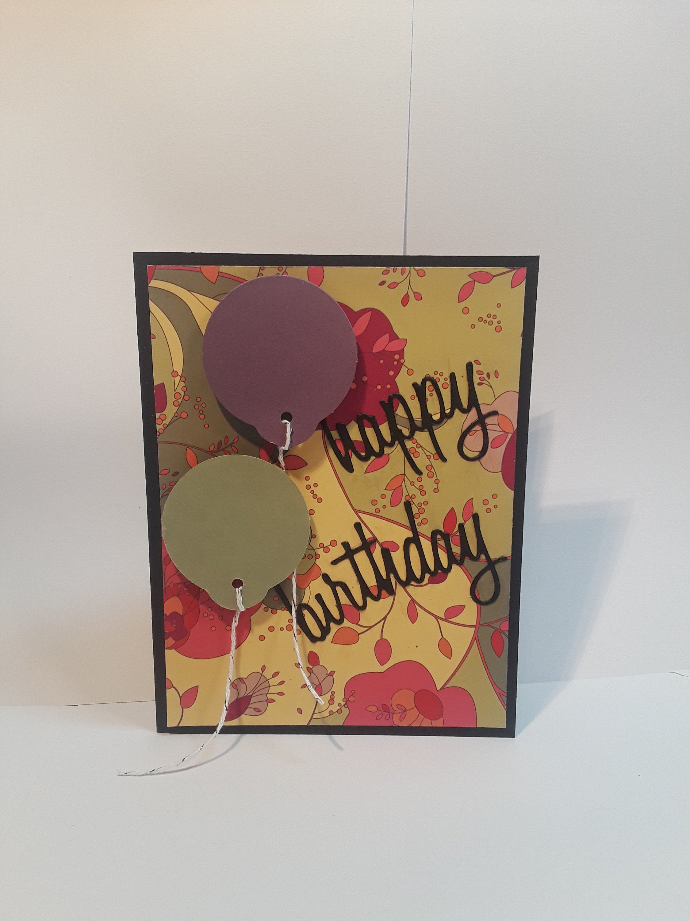 Handmade greeting card happy birthday friendship and family