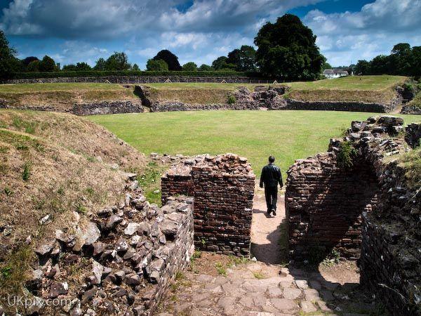 Roman Amphitheatre at Caerleon, Wales