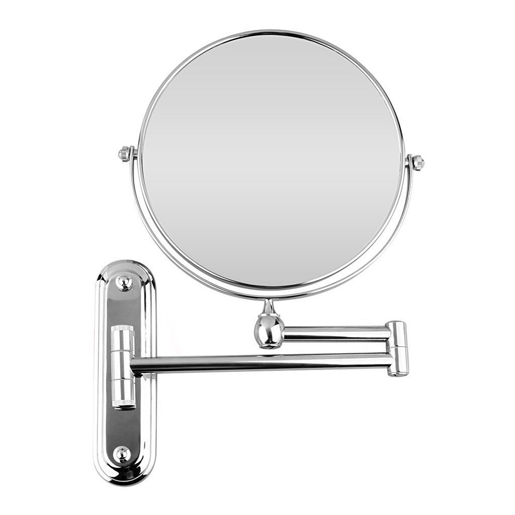 Sumnacon 8 Inch Two Sided 360 Degree Swivel Wall Mounted Vanity Mirror 12 Extension Folding Make Up With Chrome Finish For Bathroom Bedroom 10