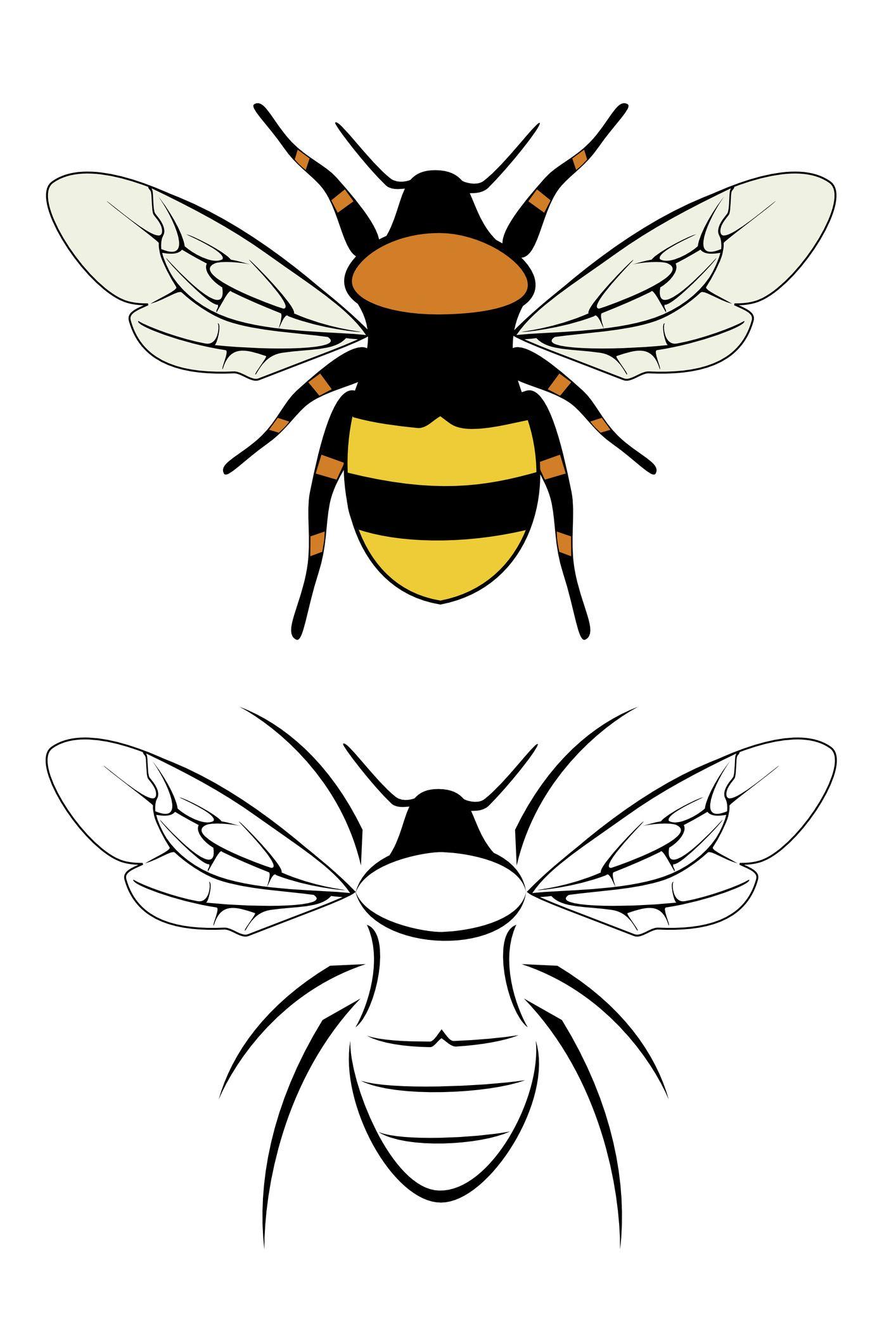Queen Bee Tattoo Vintage