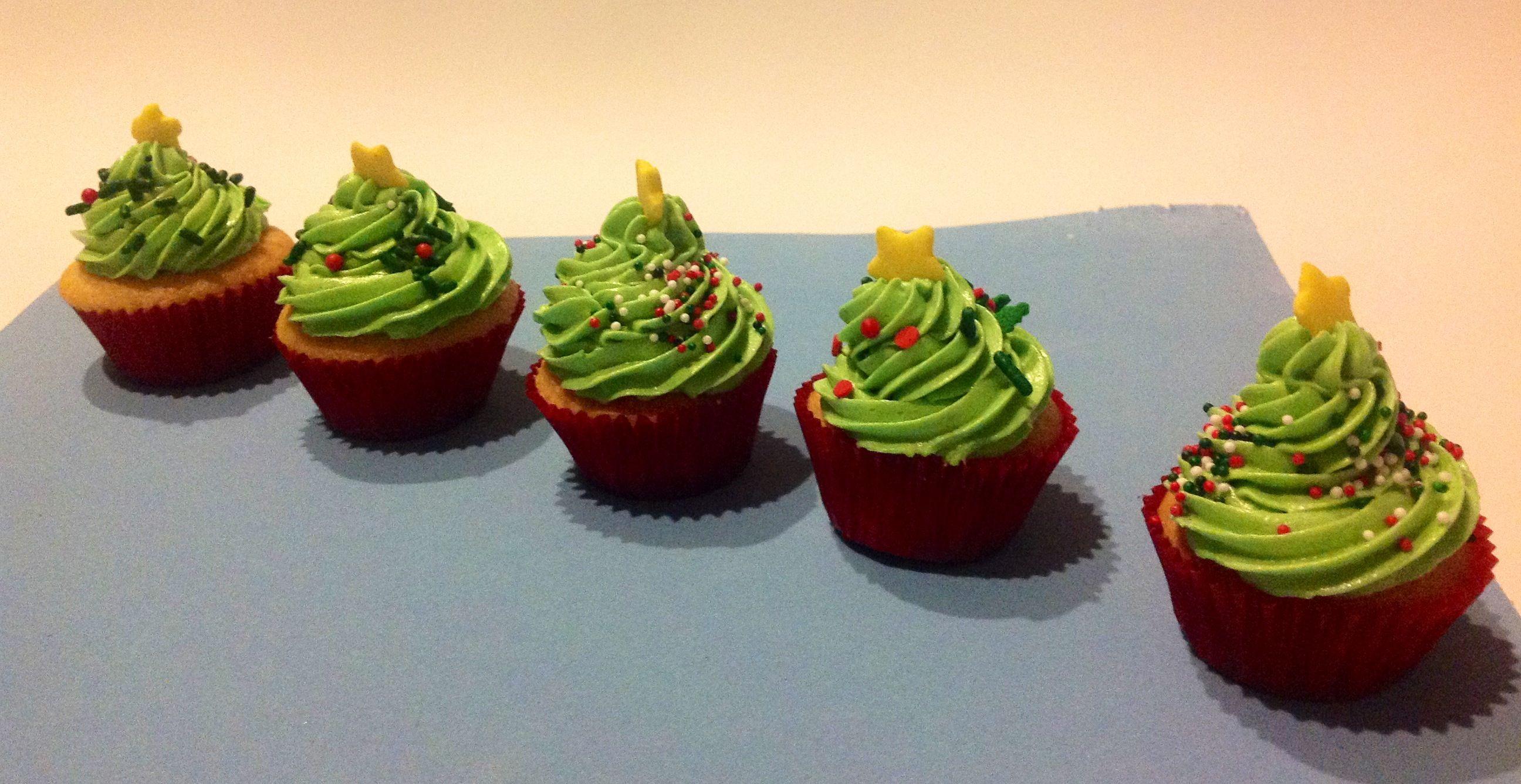 Mini cupcakes  navideños