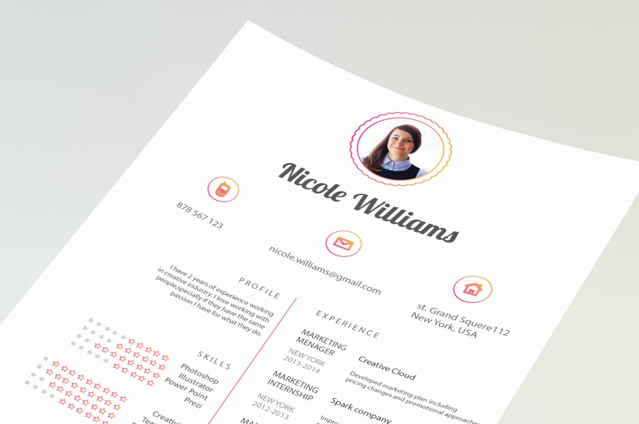 Creative resume by CVdesign. Limitet version on Fiverr, only 5 ...