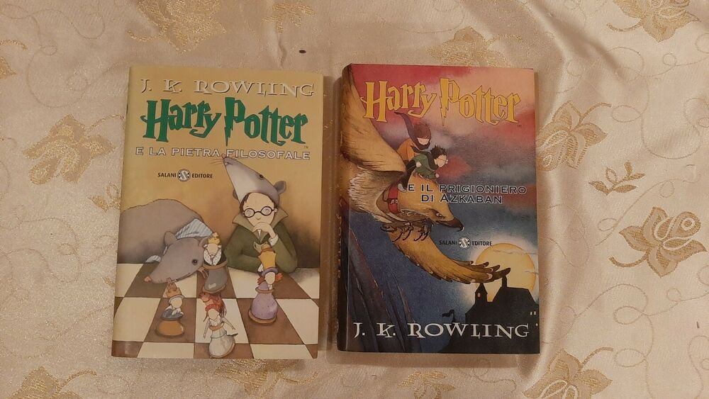 Harry potter 1st i talian editions philosophers stone and
