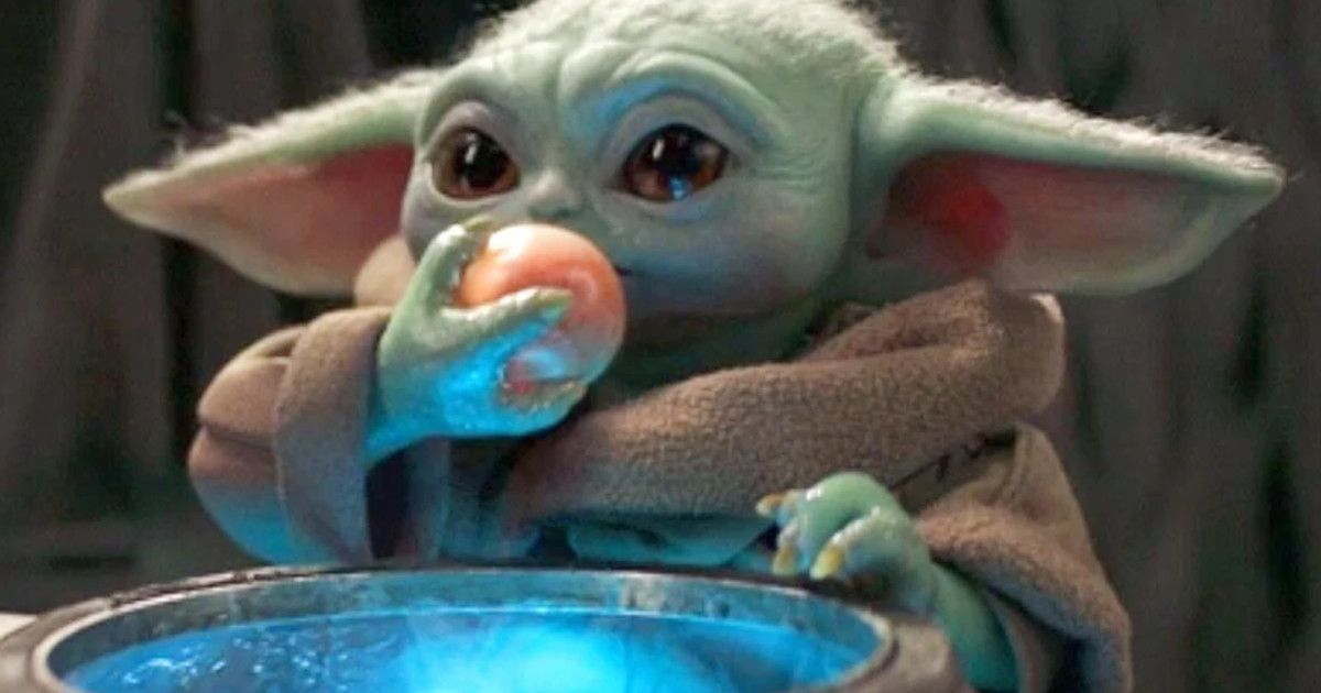 Baby Yoda Eating Eggs Is For Comedy Disturbing Horror Effect Says Disney Star Wars Painting Mandalorian Star Wars Fans