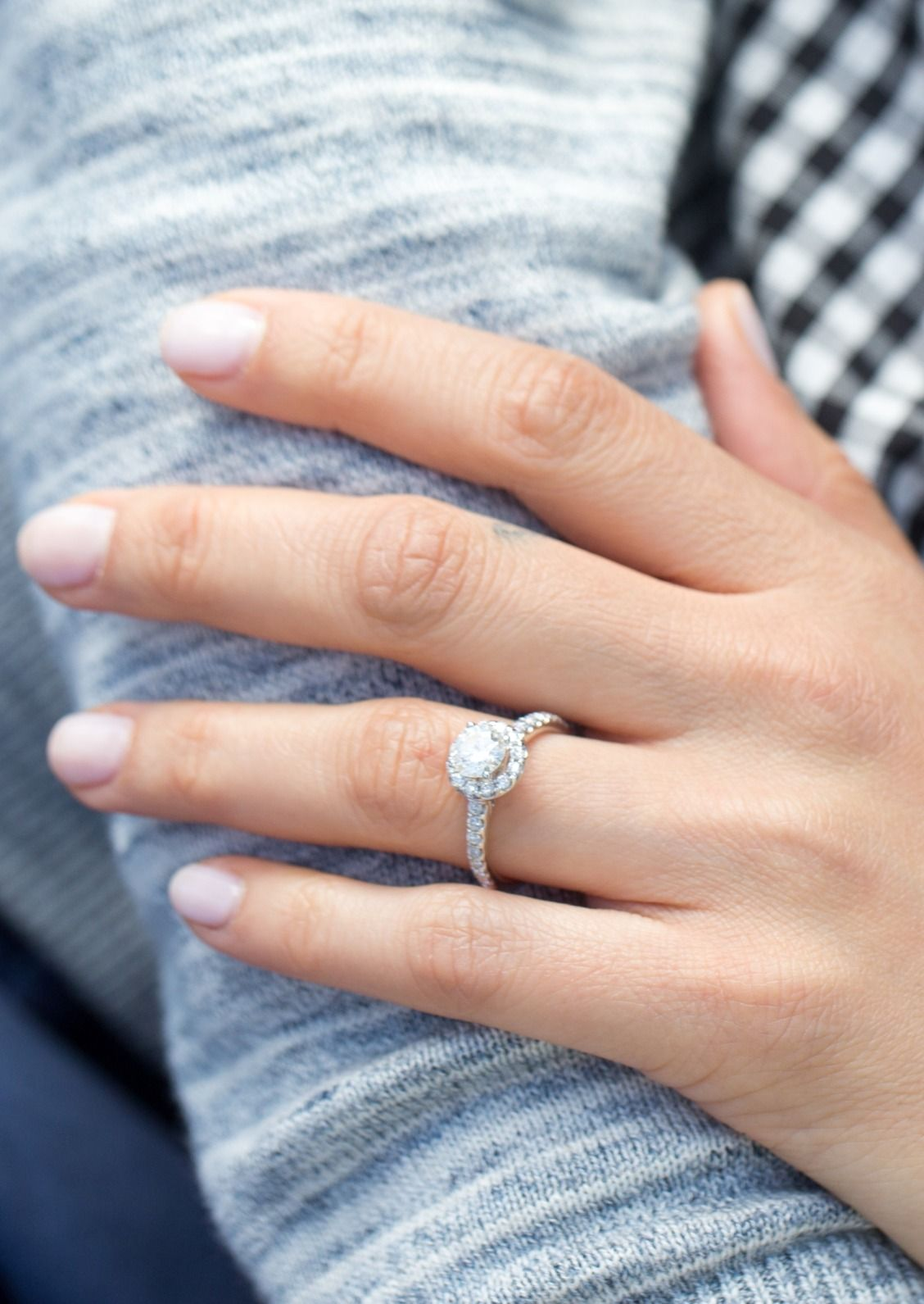 She Ll Want To Hold Onto This Tolkowsky Diamond Halo Engagement Ring Foreve Round Halo Engagement Rings Tolkowsky Engagement Rings Halo Diamond Engagement Ring