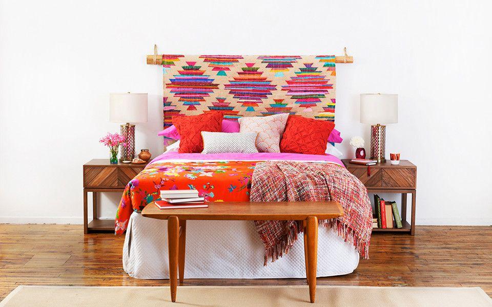 Deux id es de t te de lit en tissu chambre parent t te - Faire une tete de lit en tissus ...