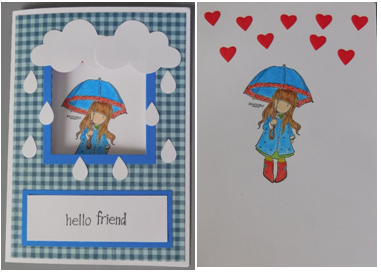 A perfect card for a friend who's feeling down or for a rainy day