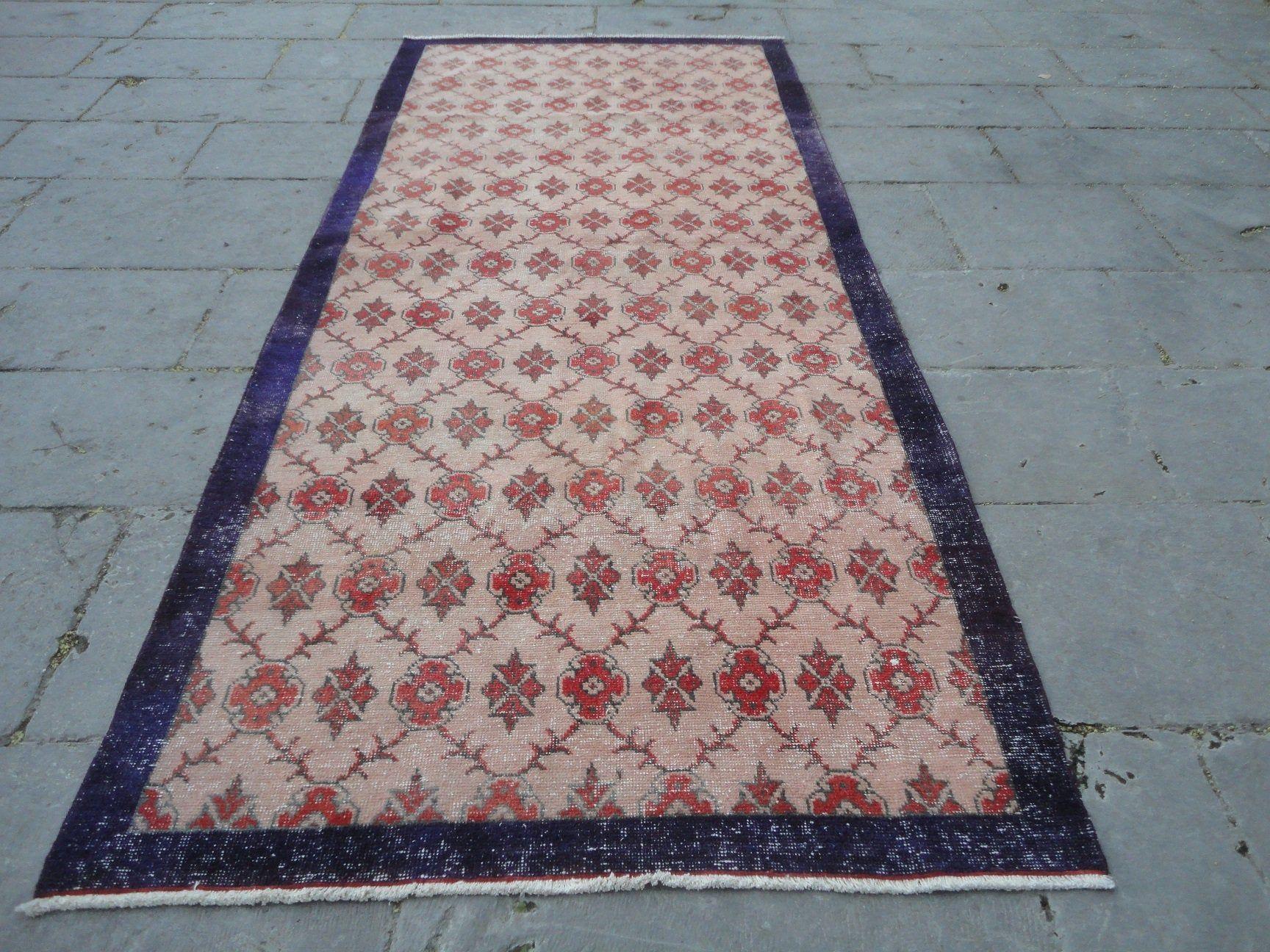 Red Runner RugBoho Low Pile Long CarpetVintage Area Rug 8 9 x 4 1 Wool Floor CarpetH Red Runner RugBoho Low Pile Long CarpetVintage Area Rug 8 9 x 4 1 Wool Floor CarpetHa...